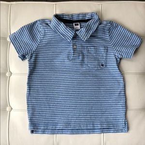 Janie and Jack Blue White Collared Shirt Size 2T